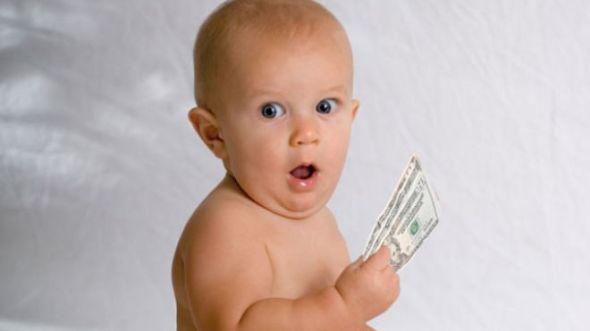 Baby-Sitting-Holding-Money-Shocked